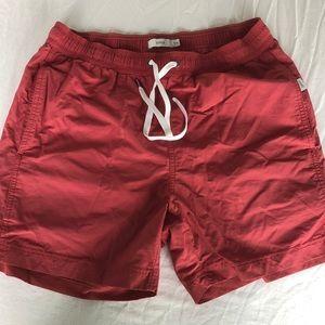 Men's Red Onia Swim Shorts